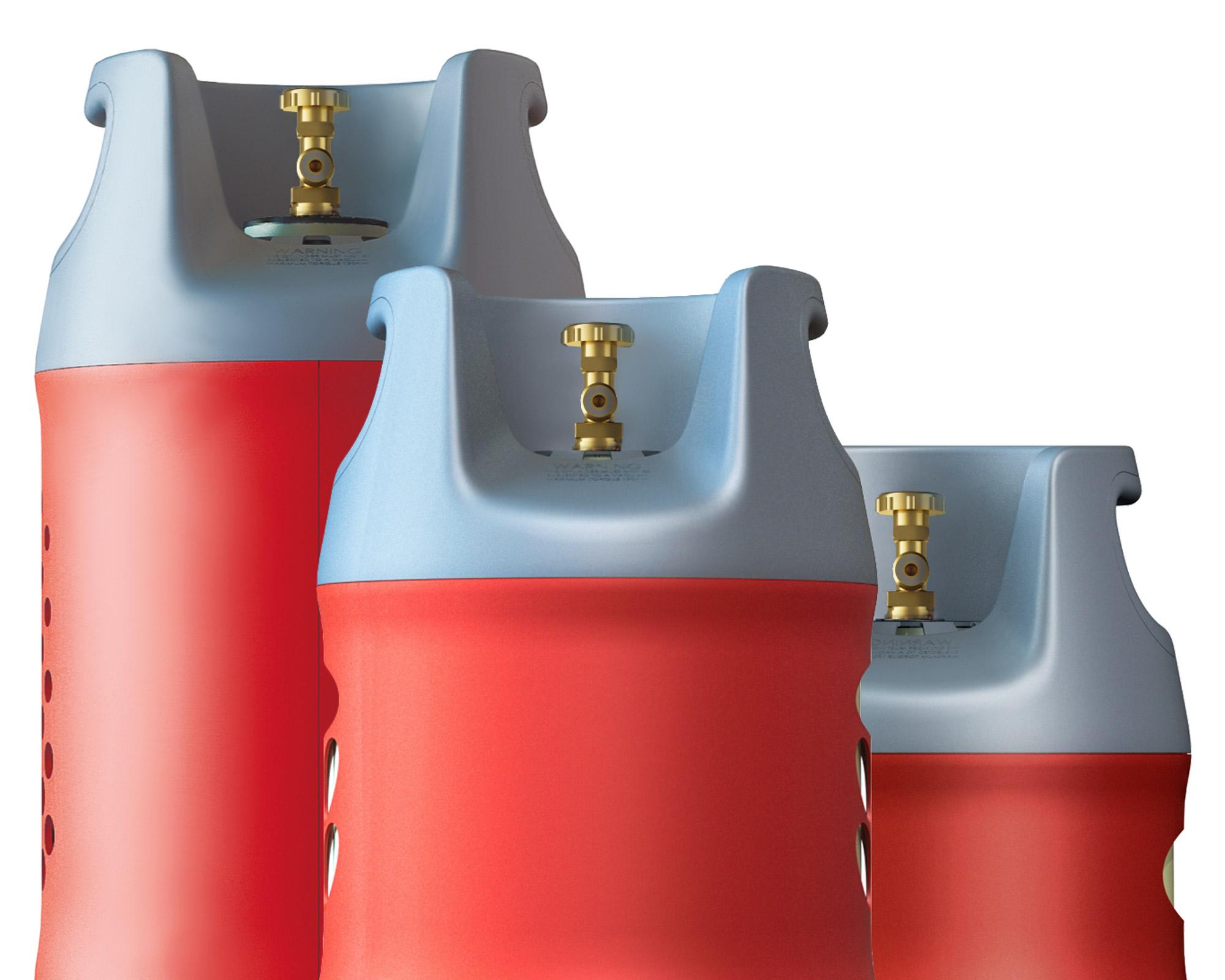 Взрывобезопасный композитно-полимерный газовый баллон